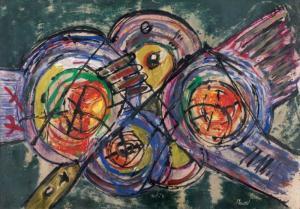 لوحة للفنان ميلود لبيض