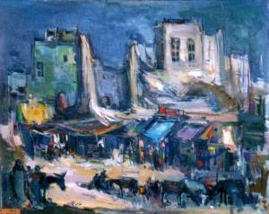 لوحة للفنان خالد الجادر